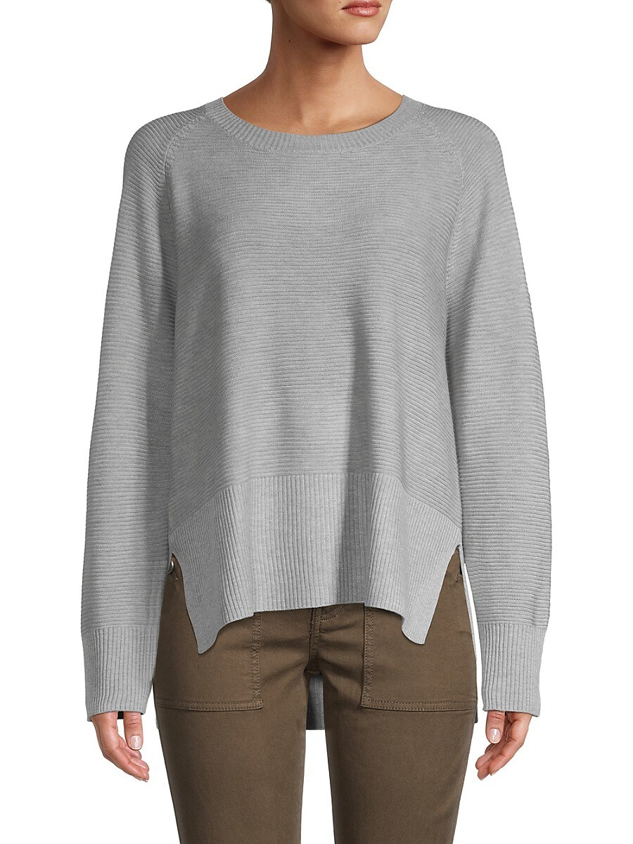 Women's Ribbed High-Low Sweater