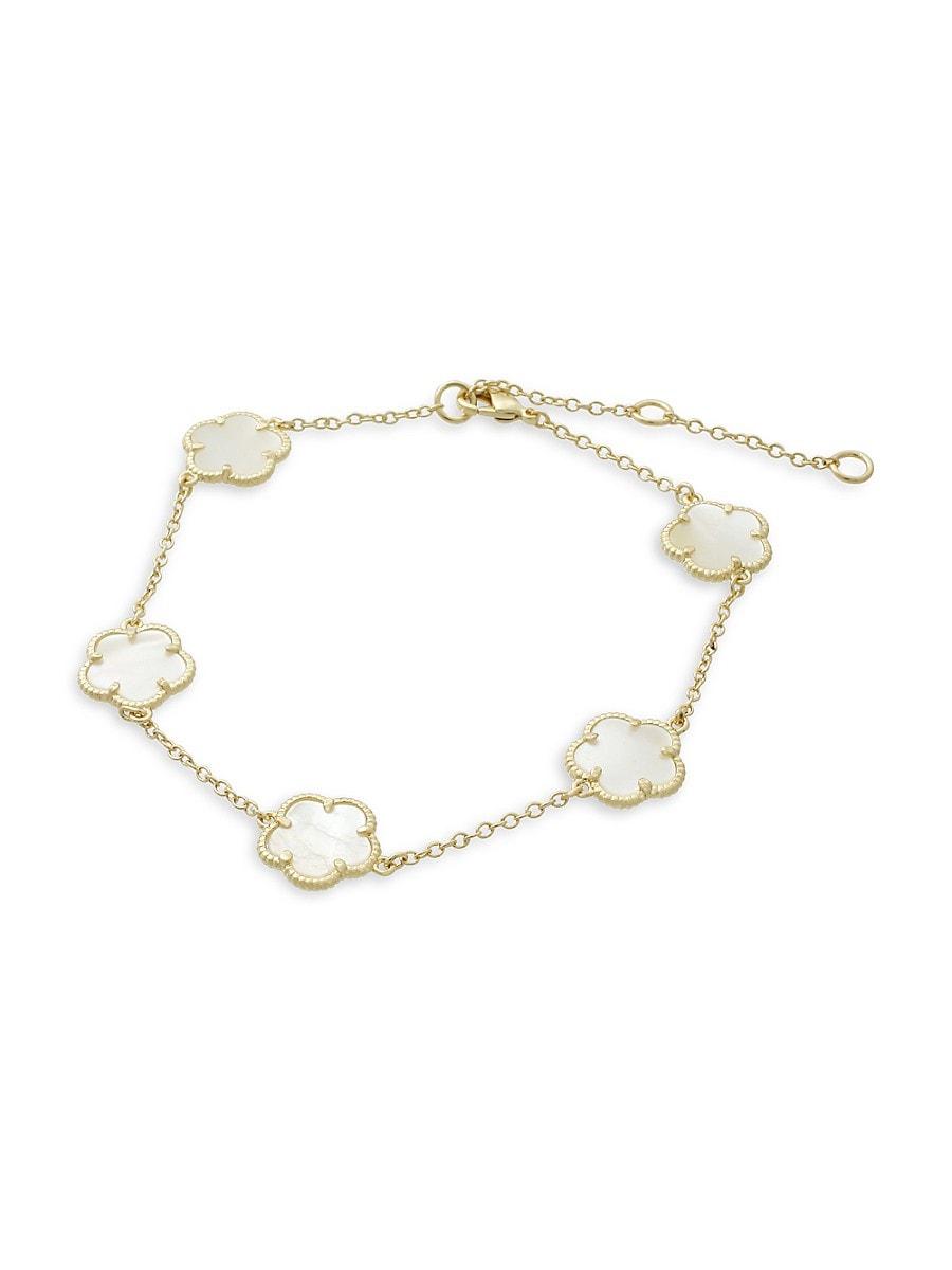 Women's Clover Goldplated Charm Bracelet