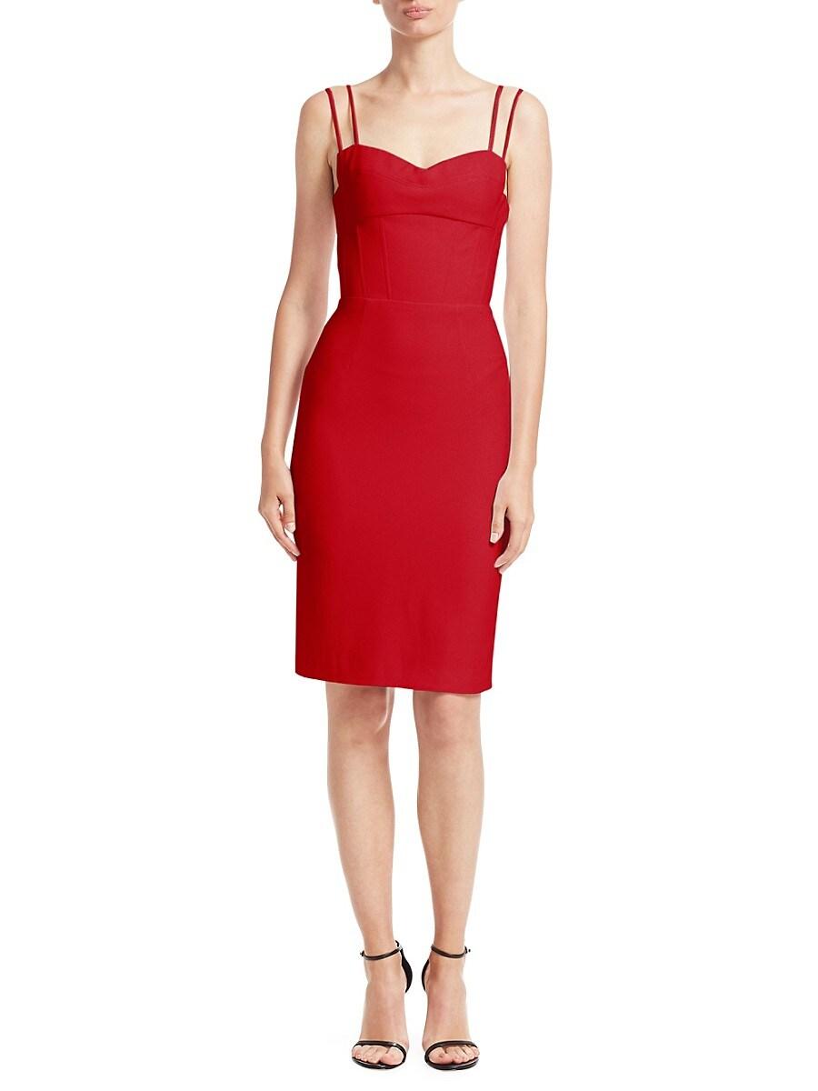 Women's Strappy Sweetheart Sheath Dress