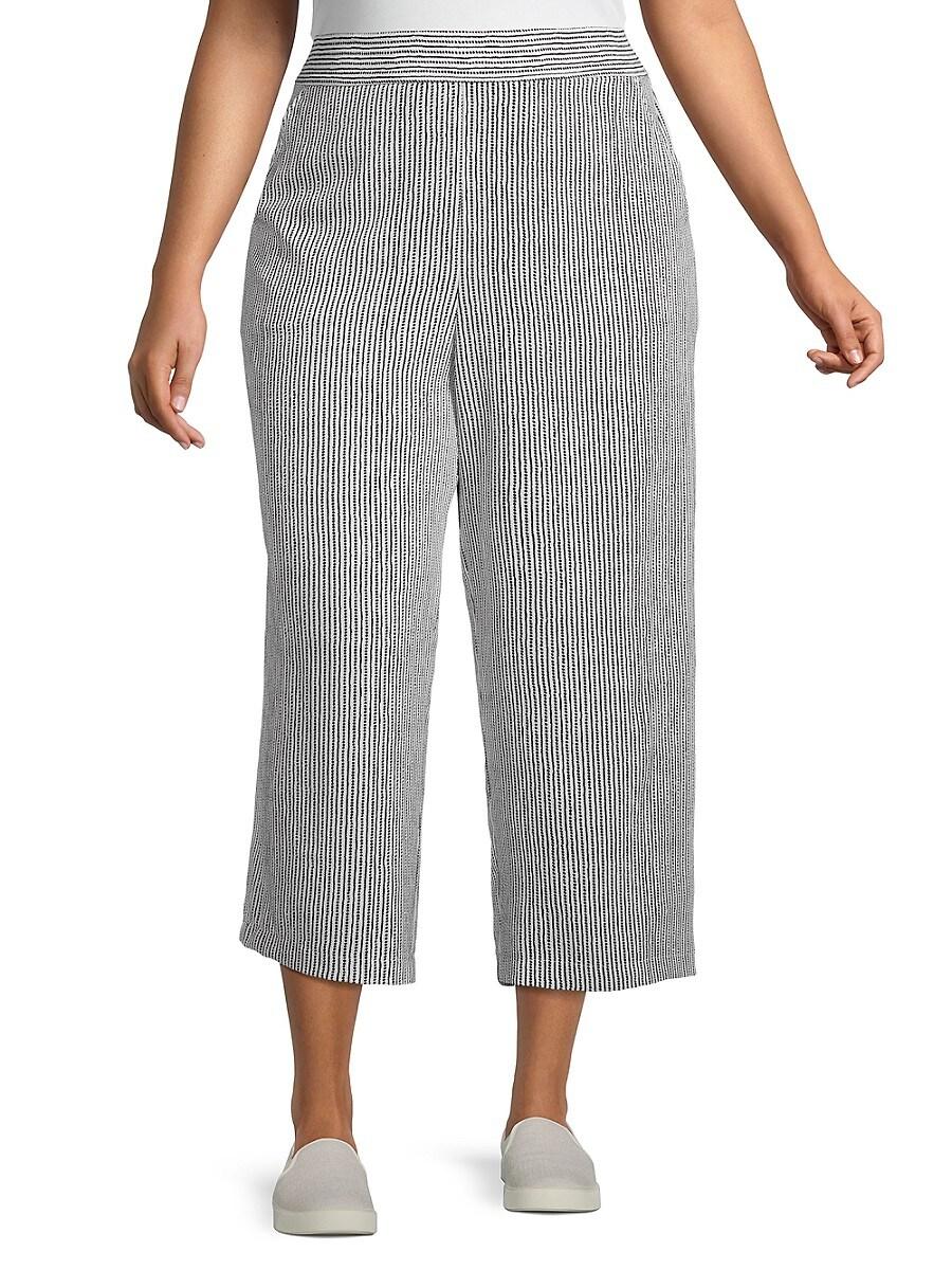 Women's Plus Woven Crepe Cropped Pants