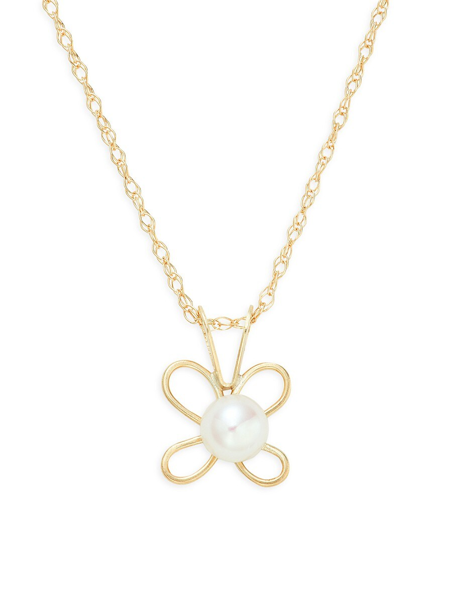 Women's 14K Yellow Gold & 4-5MM Freshwater Pearl Pendant Necklace