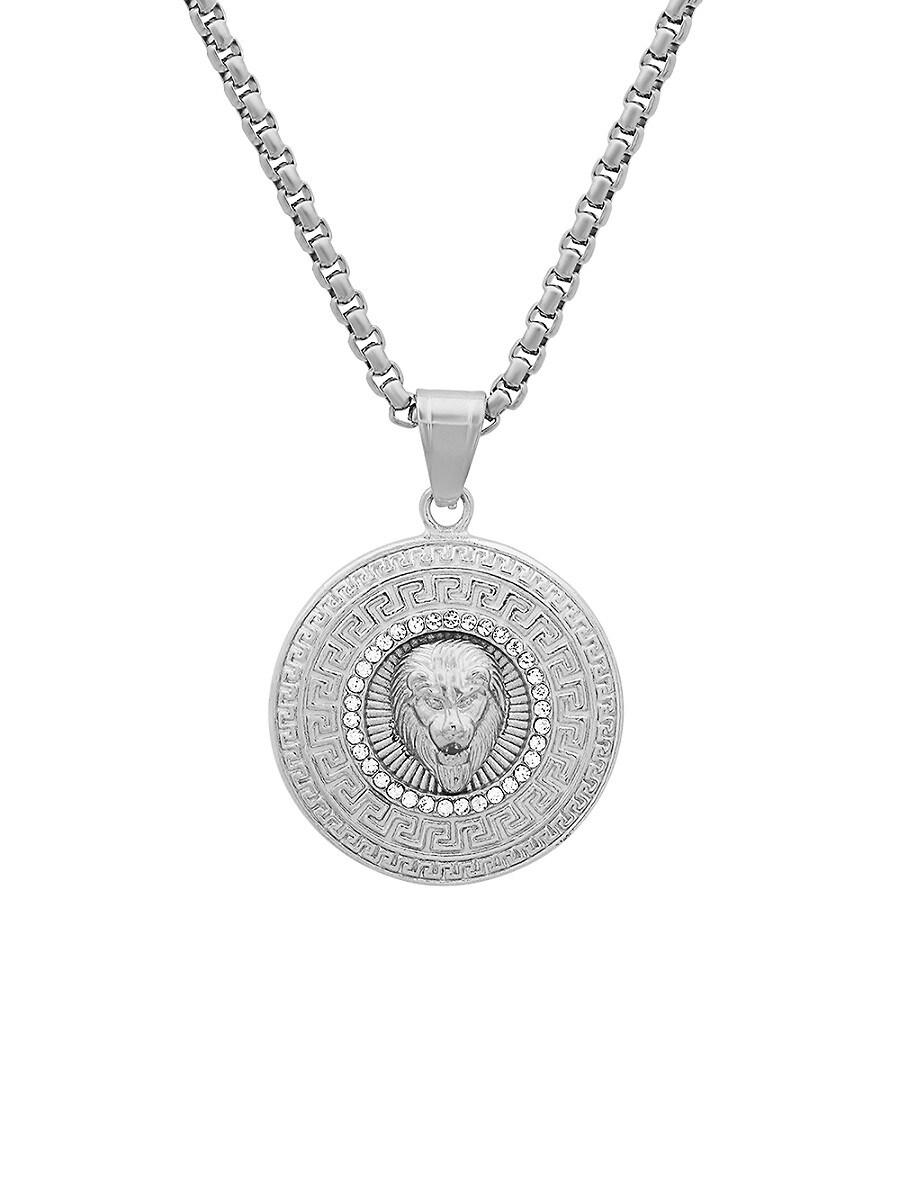 Men's Stainless Steel Regal Lion Head Pendant Necklace