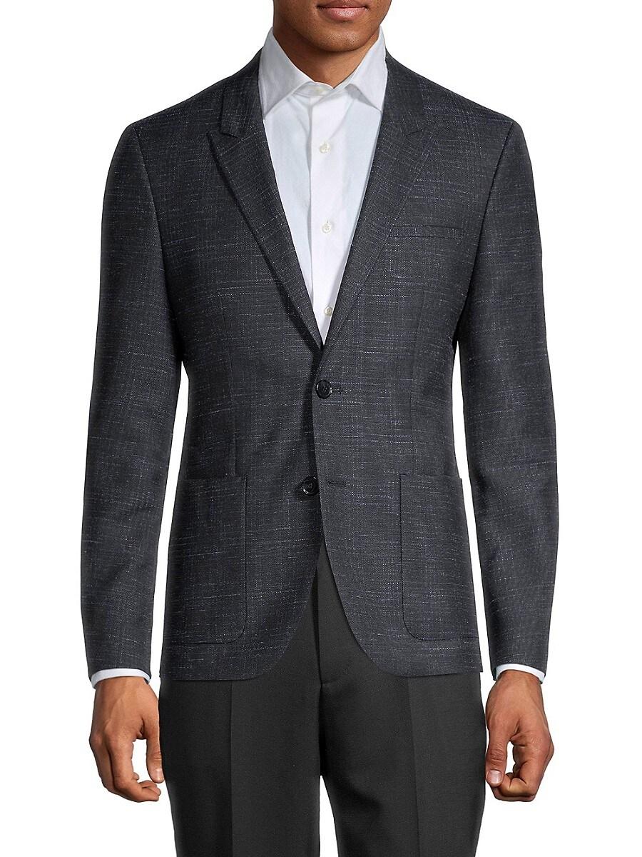 Men's Extra Slim-Fit Check Wool-Blend Jacket