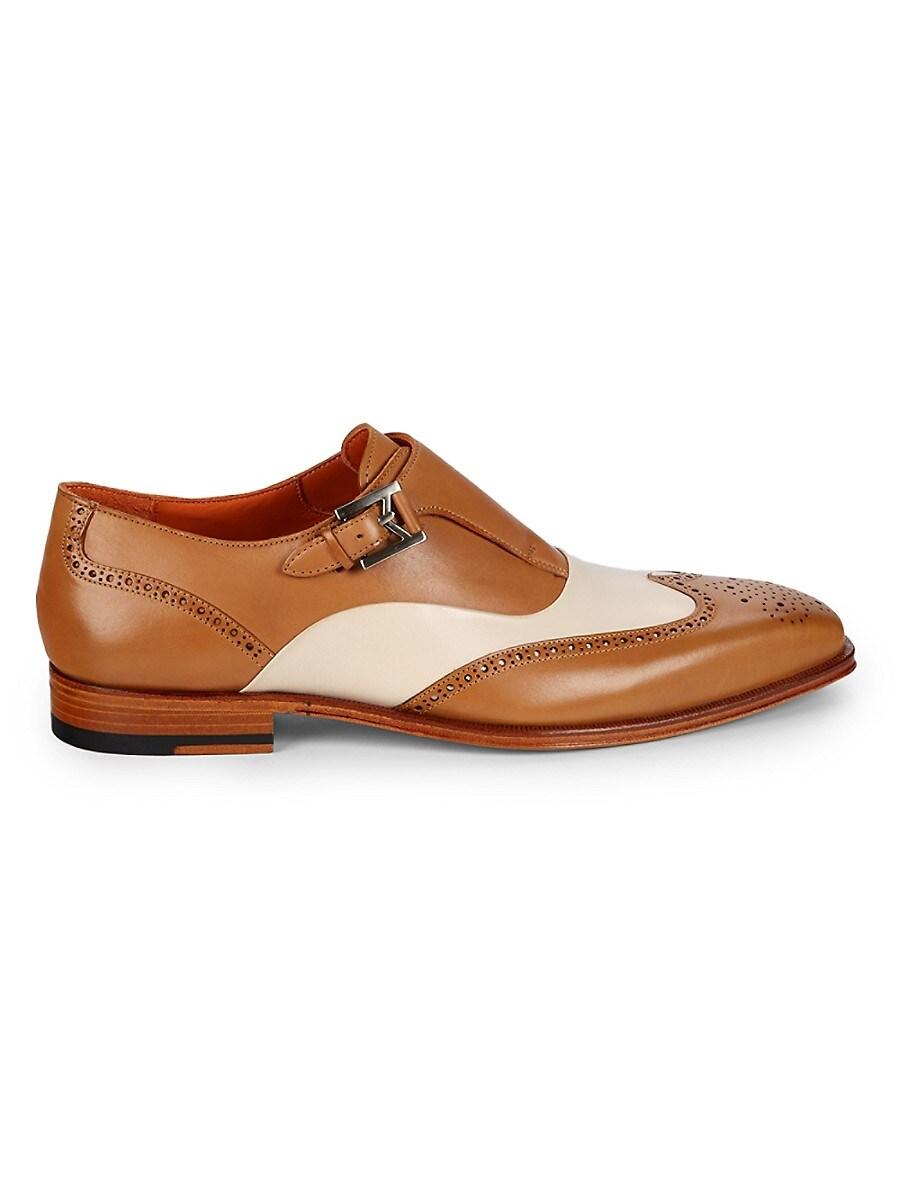 Men's Leather Monk-Strap Shoes
