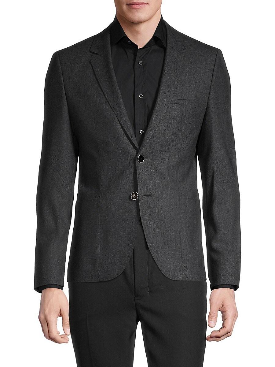 Men's Extra Slim-Fit Textured Wool-Blend Blazer