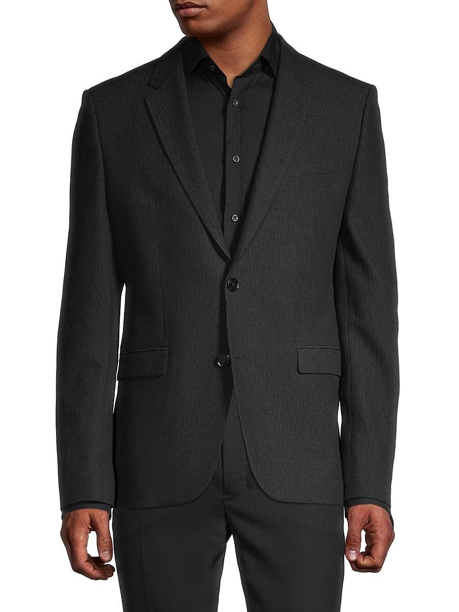 Men's Notch Lapel Virgin Wool & Cotton-Blend Blazer