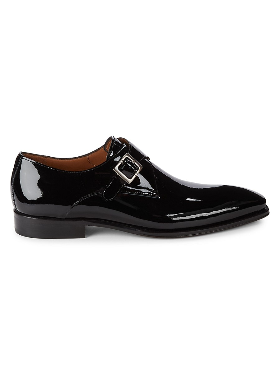 Men's Buckled Leather Oxfords