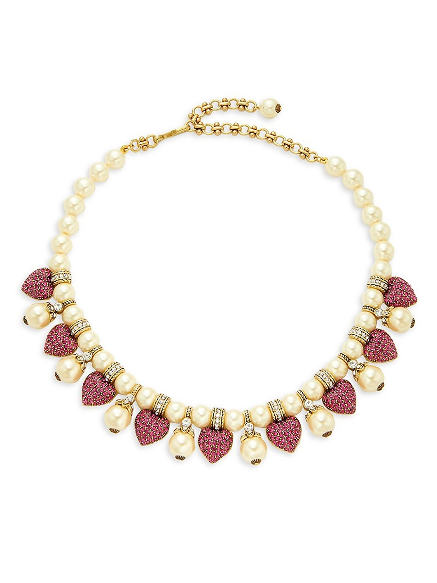 Women's Goldtone & Multicolored Crystal Beaded Necklace