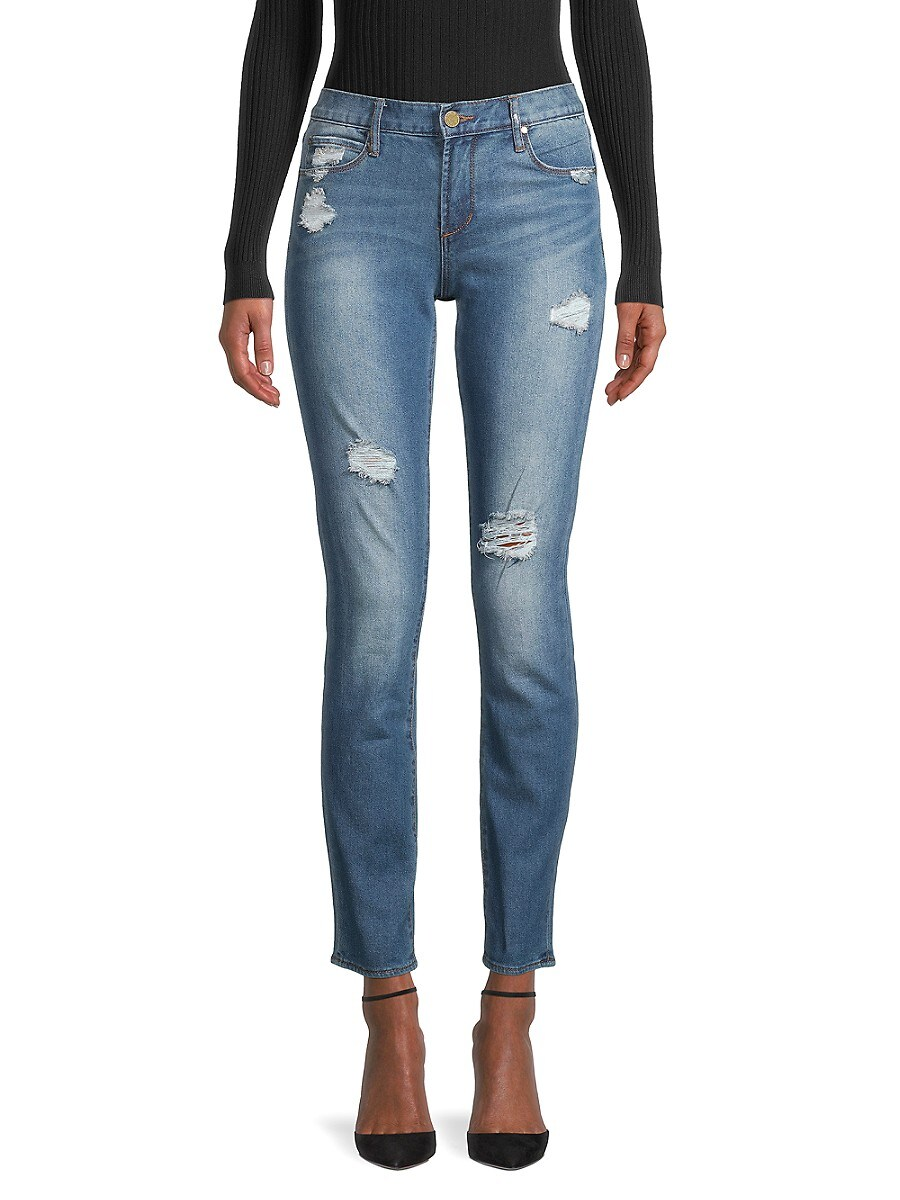 Women's Shannon Destroyed Cigarette Jeans