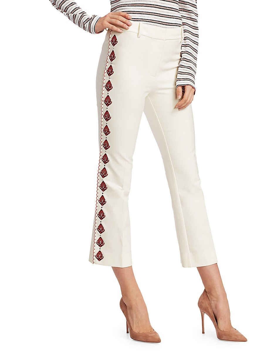 Women's Crosby Embroidered Flare Pants