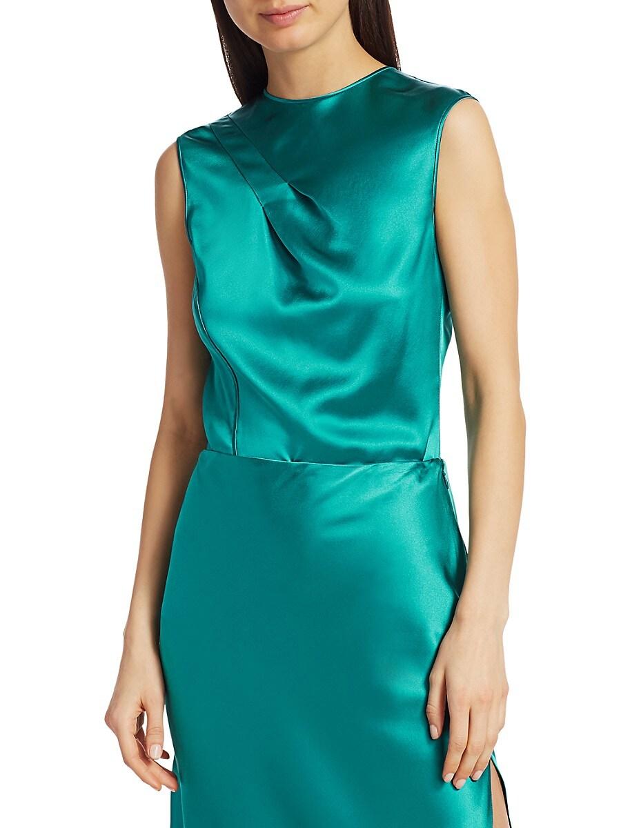 Women's Twisted Silk Blouse