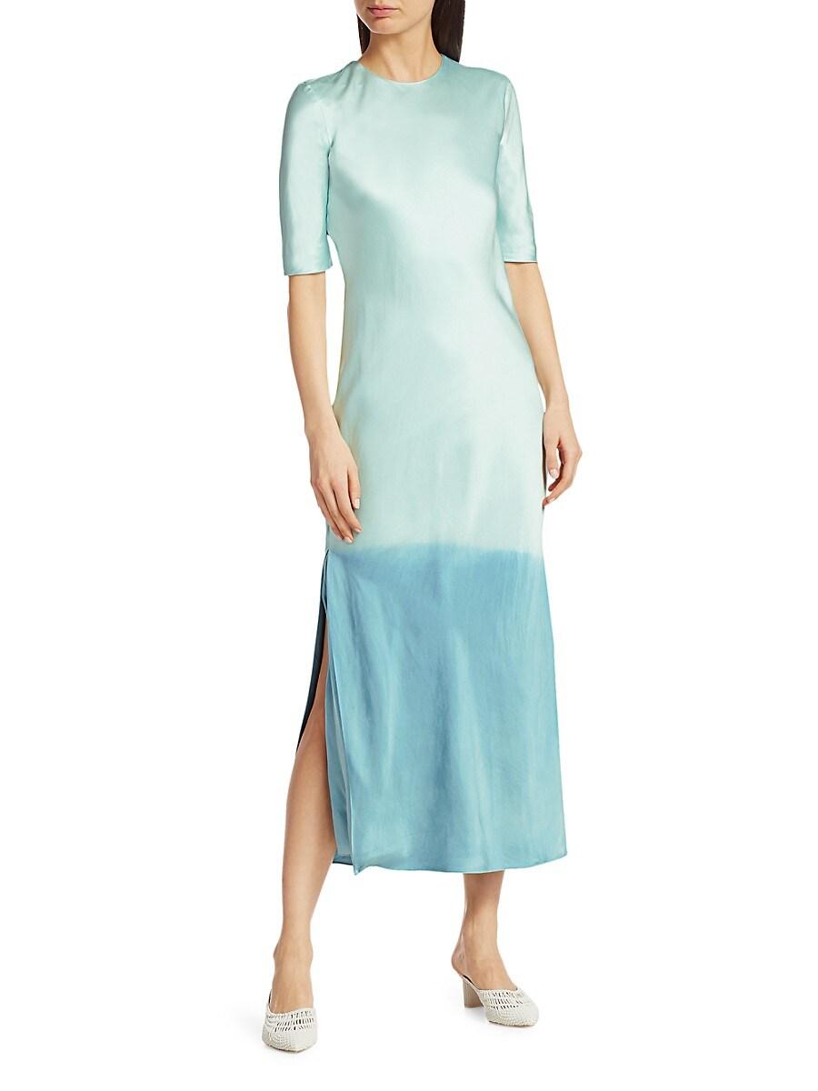 Women's Dip-Dye Silk Midi Dress