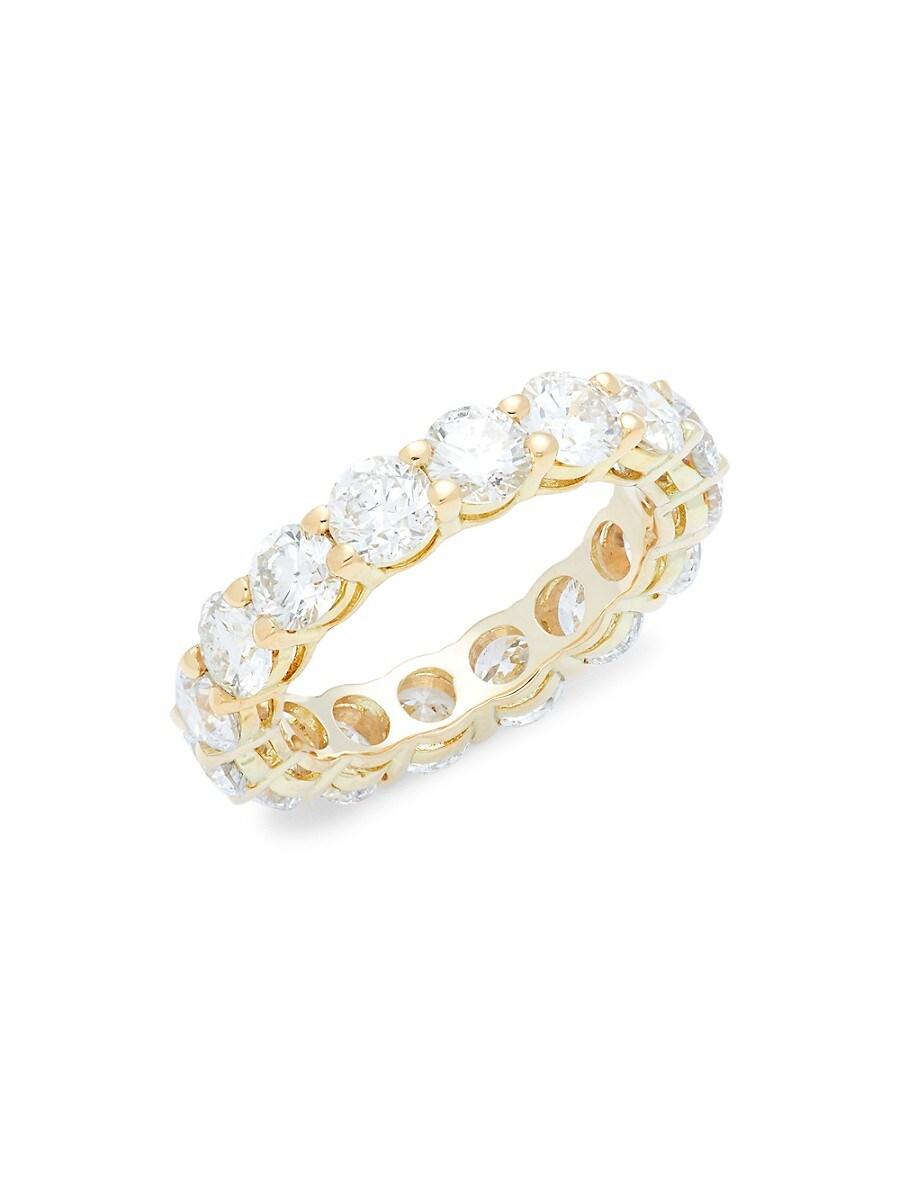 Women's 18K Yellow Gold & 5.00 TCW Diamond Eternity Ring/Size 7