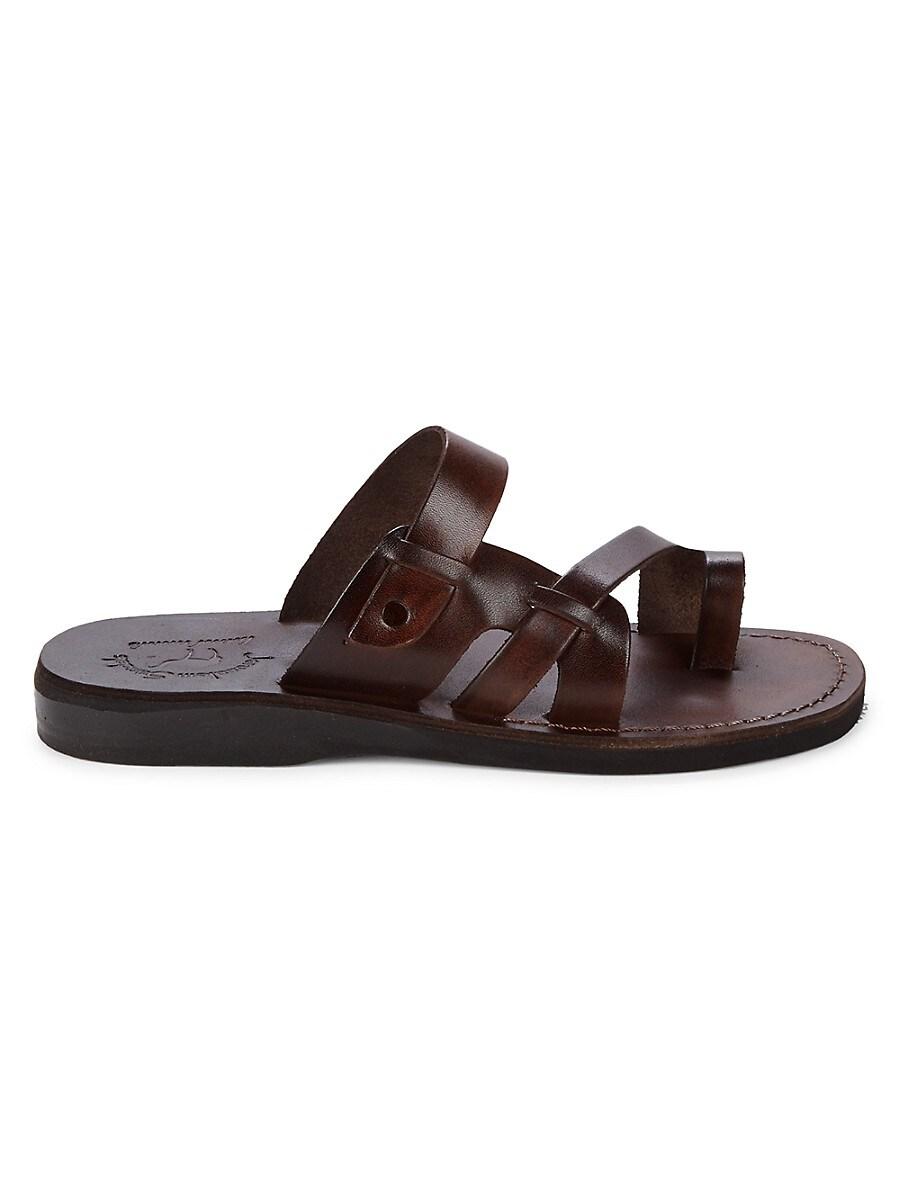 Men's Jabin Leather Toe-Loop Sandals
