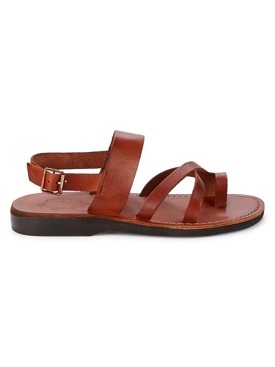Men's Amos Leather Toe-Loop Sandals