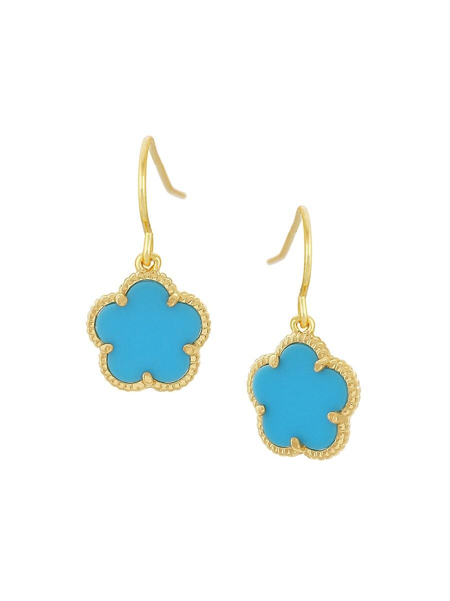 Women's Flower 14K Goldplated Drop Earrings