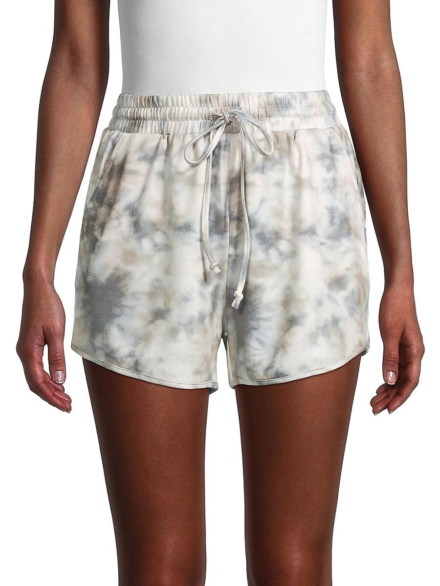 Women's Tie-Dyed Drawstring Shorts