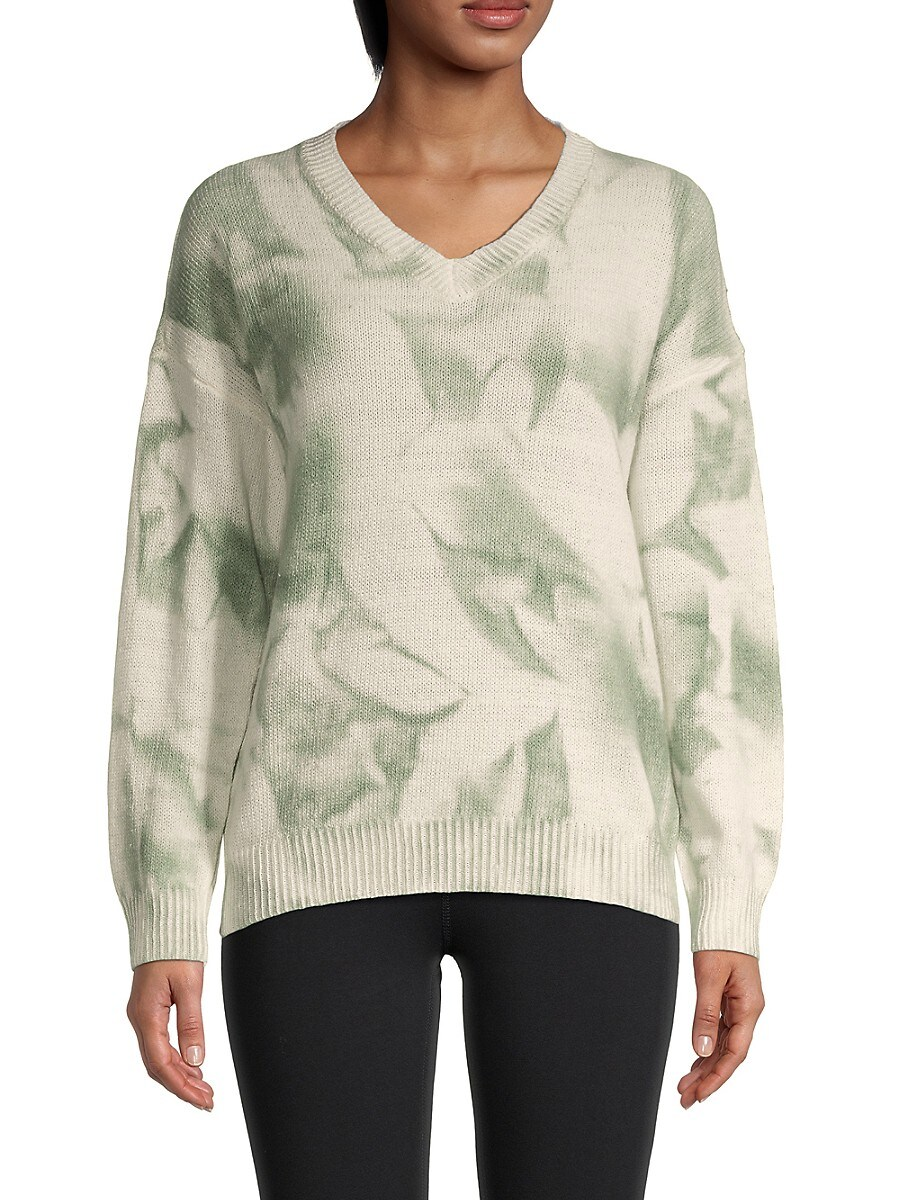 Women's Tie-Dyed V-Neck Sweater