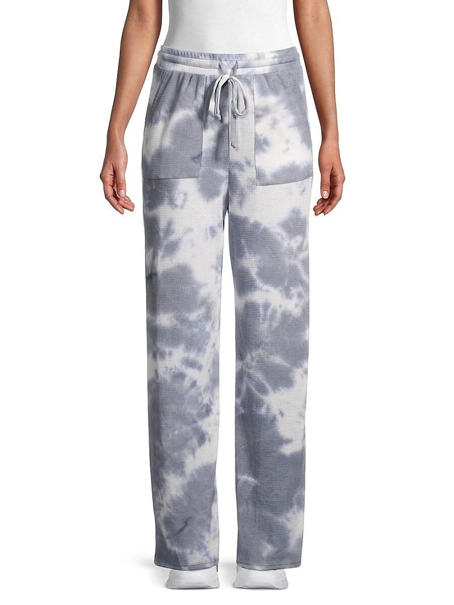 Women's Textured Tie-Dyed Pants