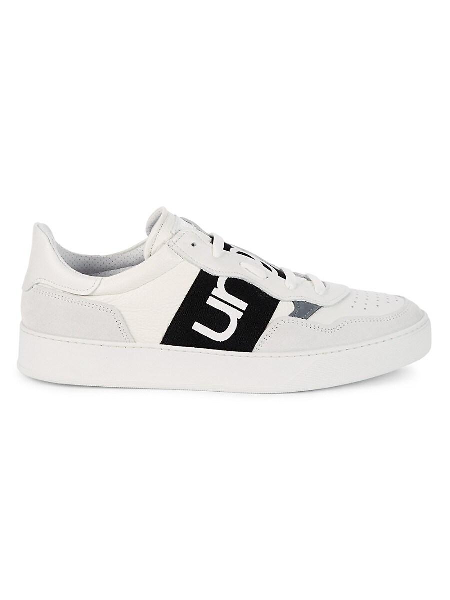 Men's Logo Low-Top Leather & Suede Sneakers