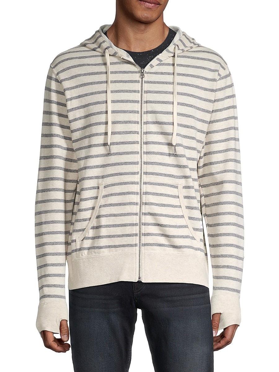 Men's Striped Cotton Hoodie