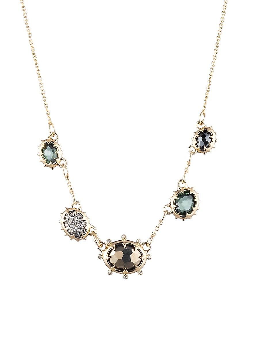 Women's Georgian 10K Yellow Goldplated & Multi-Stone Necklace