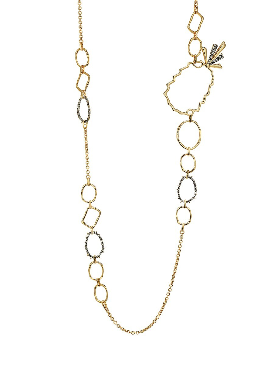 Women's Elements 10K Goldplated Pineapple Link Necklace