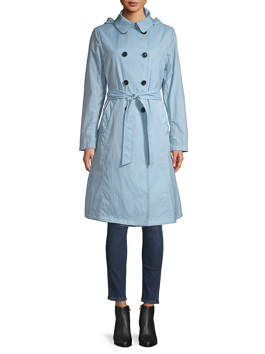 Women's Crunch Double-Breasted Trench Coat