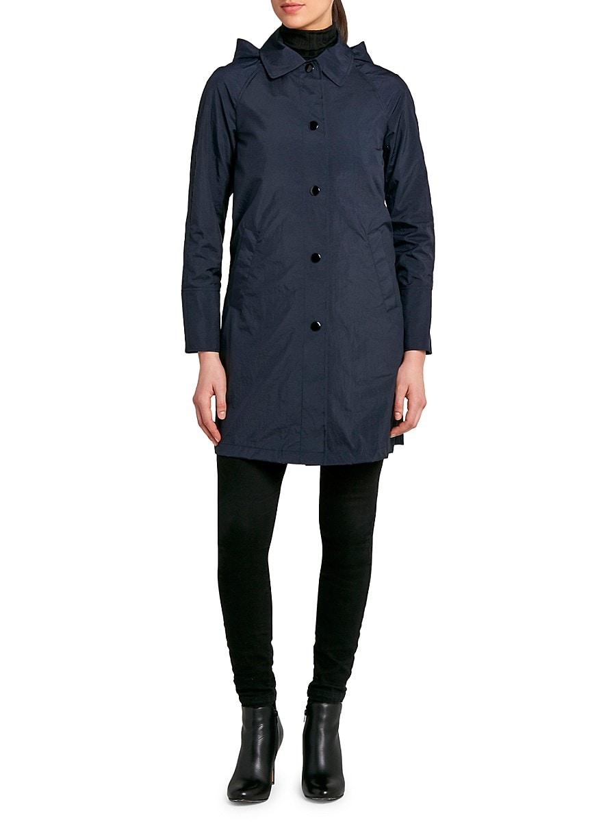 Women's Snap-Front Hooded Coat
