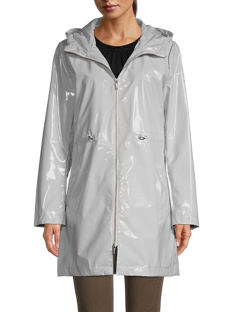 Women's Iconic Faux Leather Hooded Parka