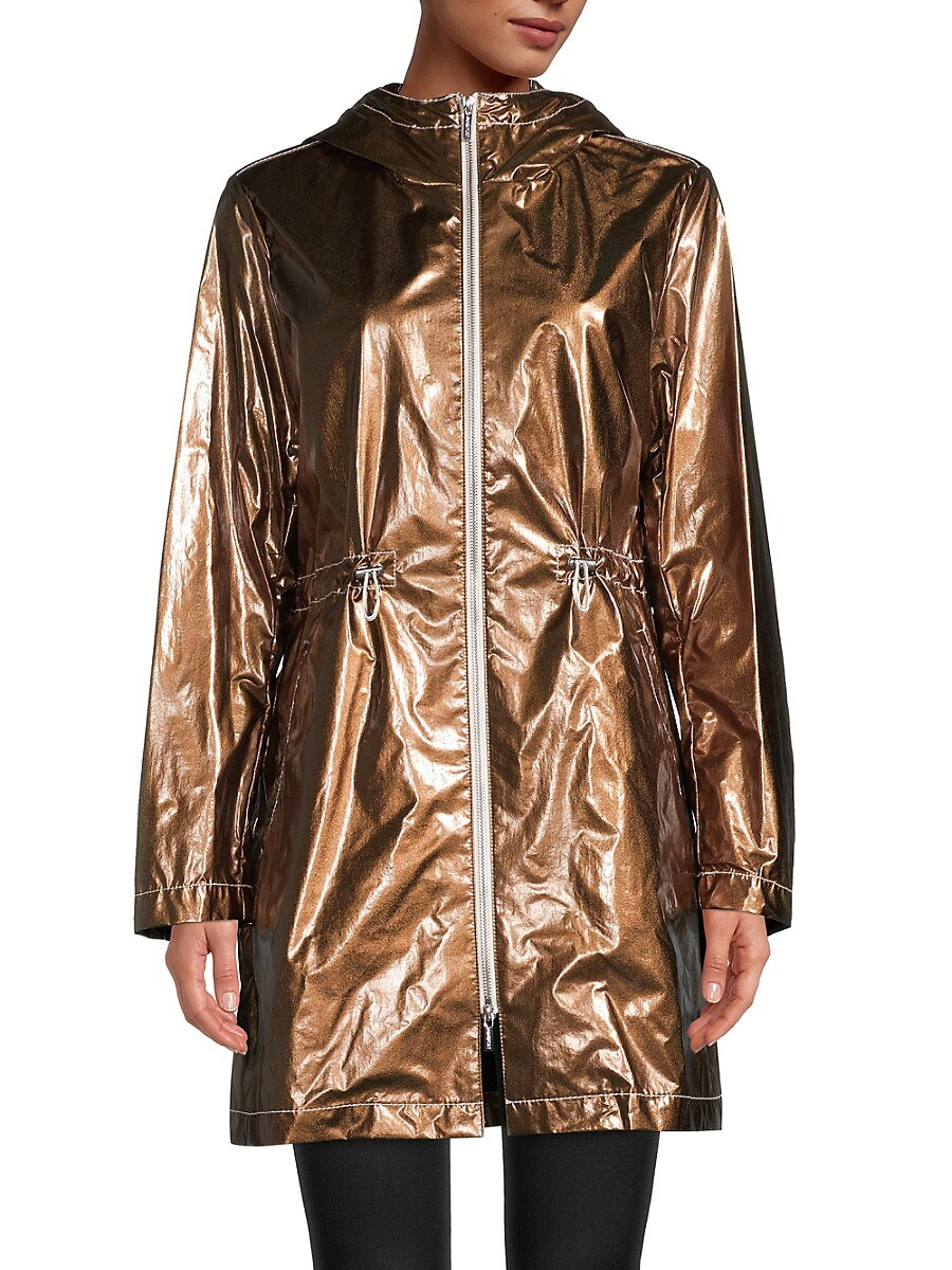 Women's Metallic Hooded Anorak