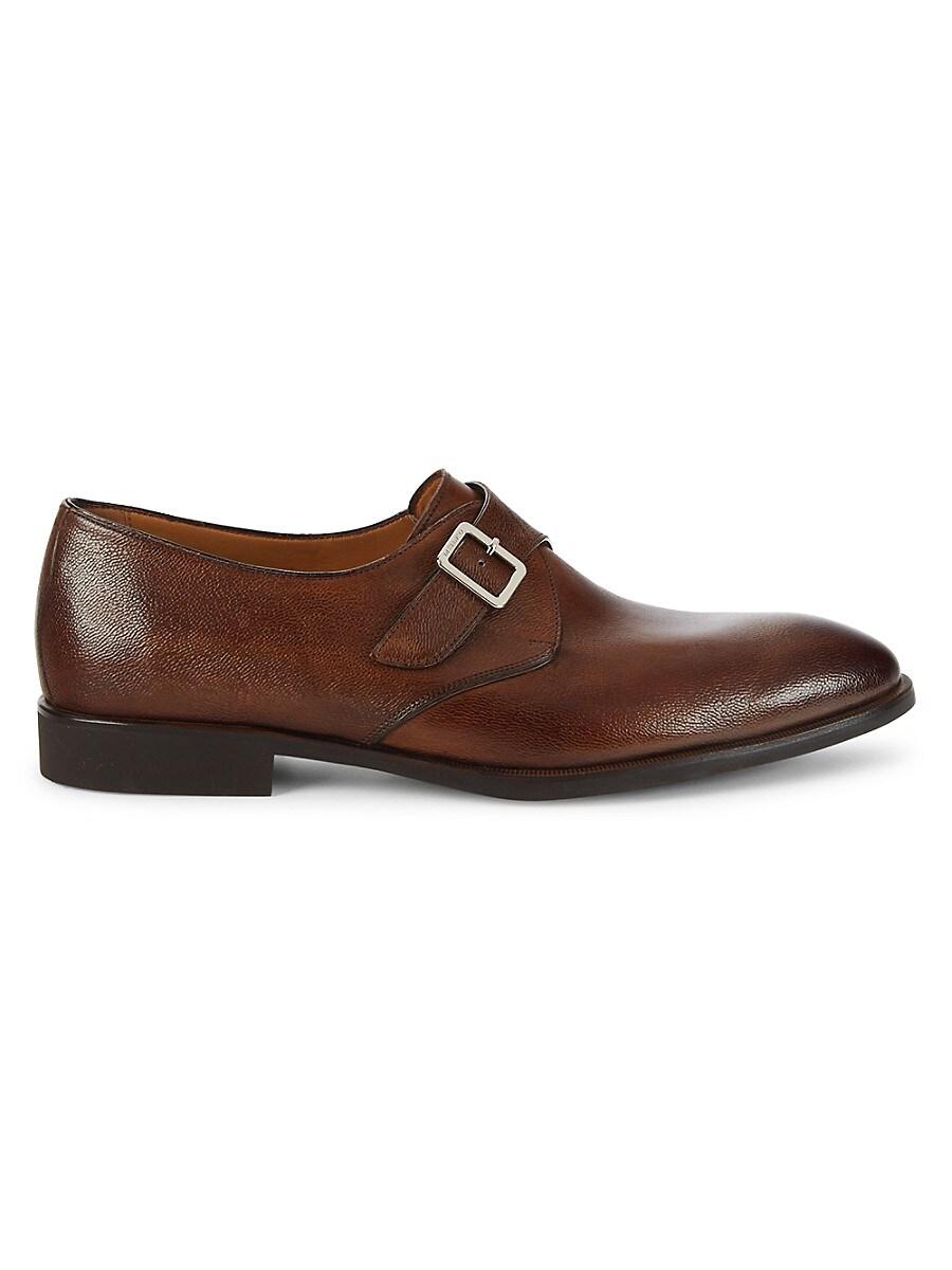 Men's Bahia Pebbled Leather Monk-Strap Shoes