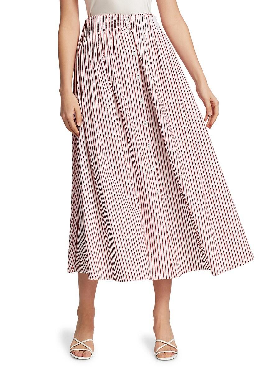 Women's Shirred A-Line Tea Skirt