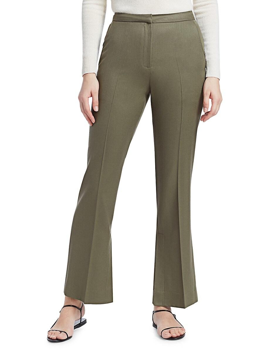 Women's Summer-Wool Flare Trousers