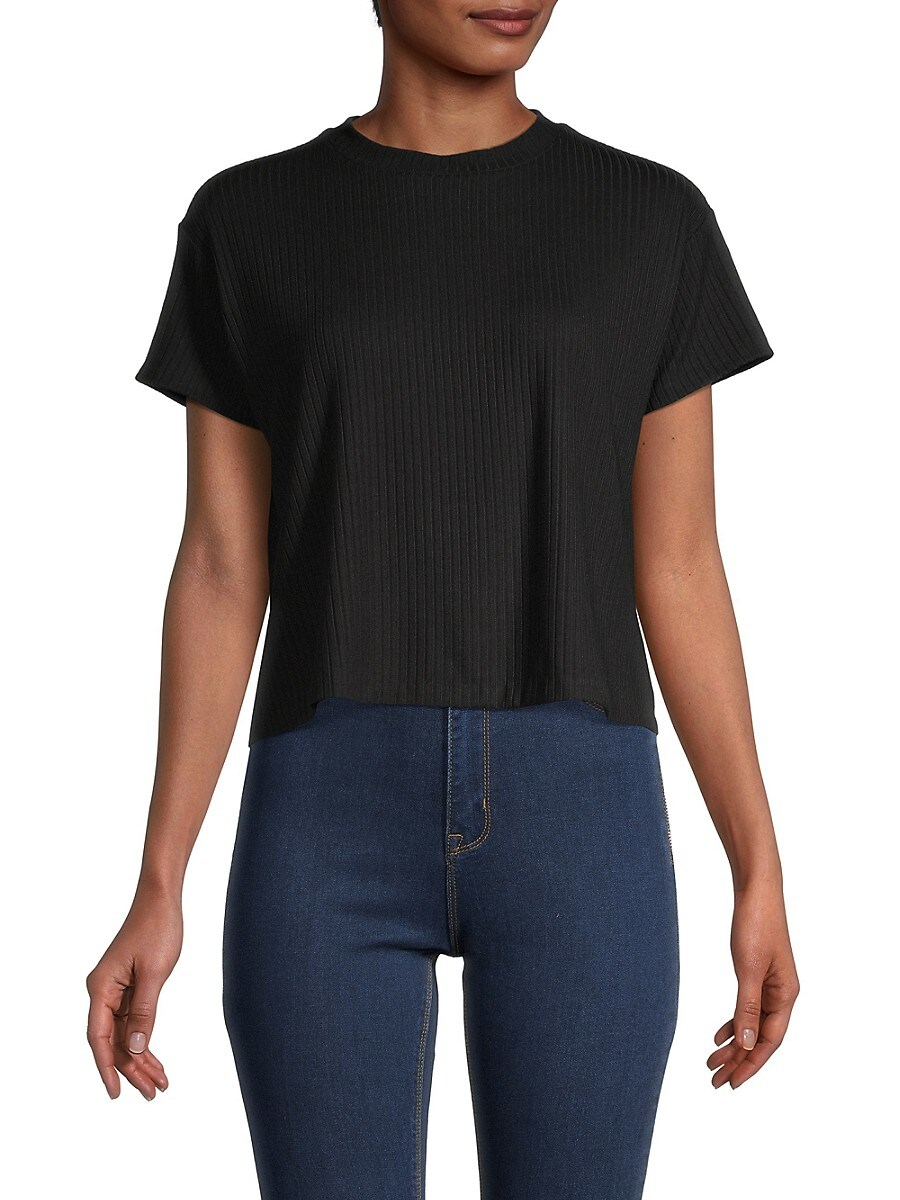 Women's Ribbed High-Low Top