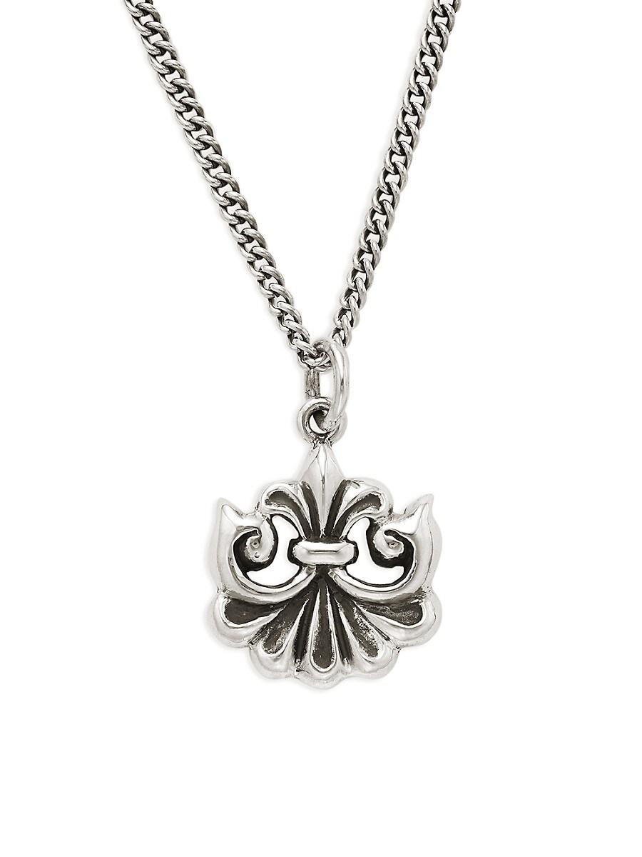 Men's Fanned Scroll Pendant Chain Necklace