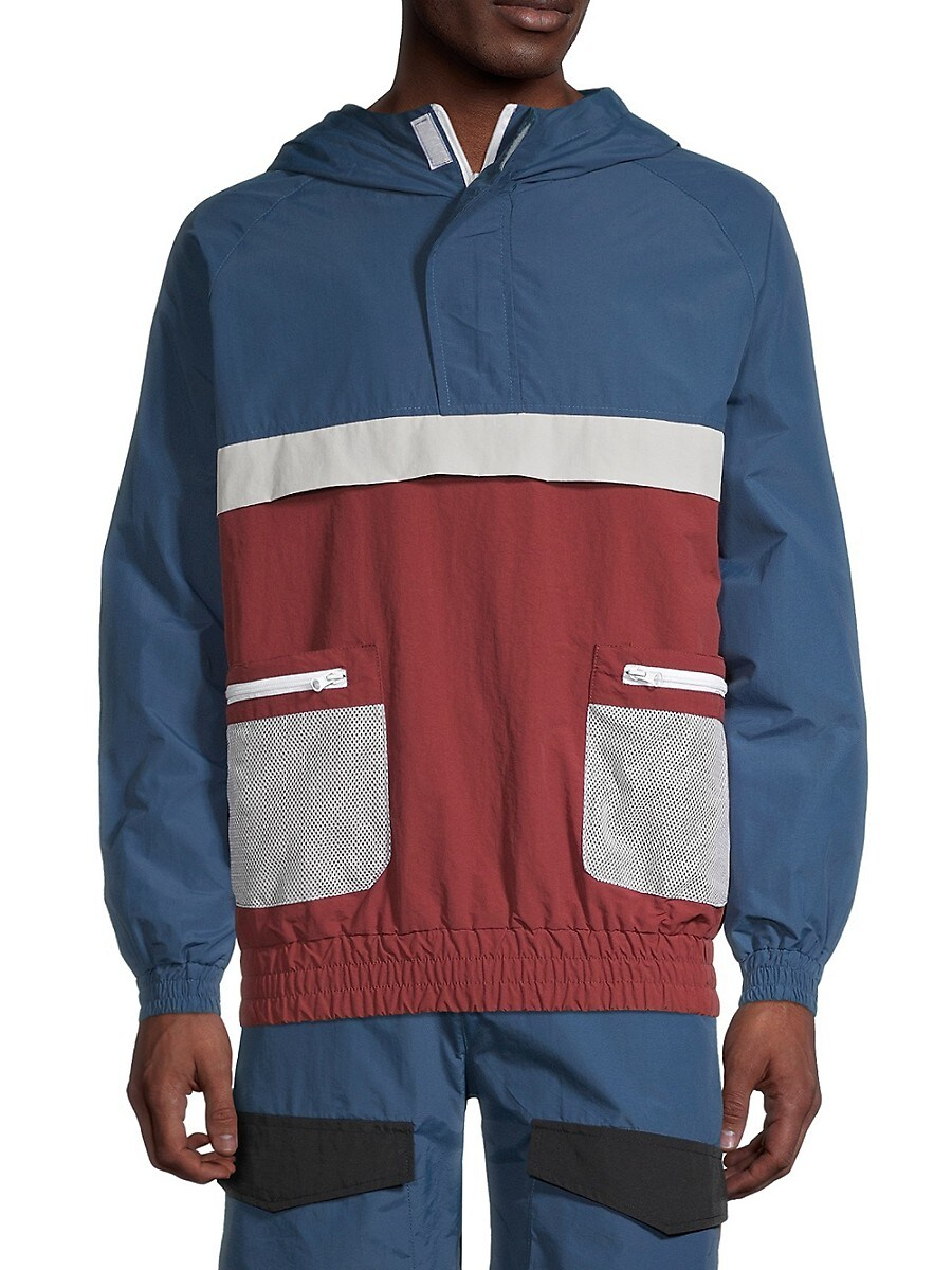 Men's Colorblock Windbreaker Jacket