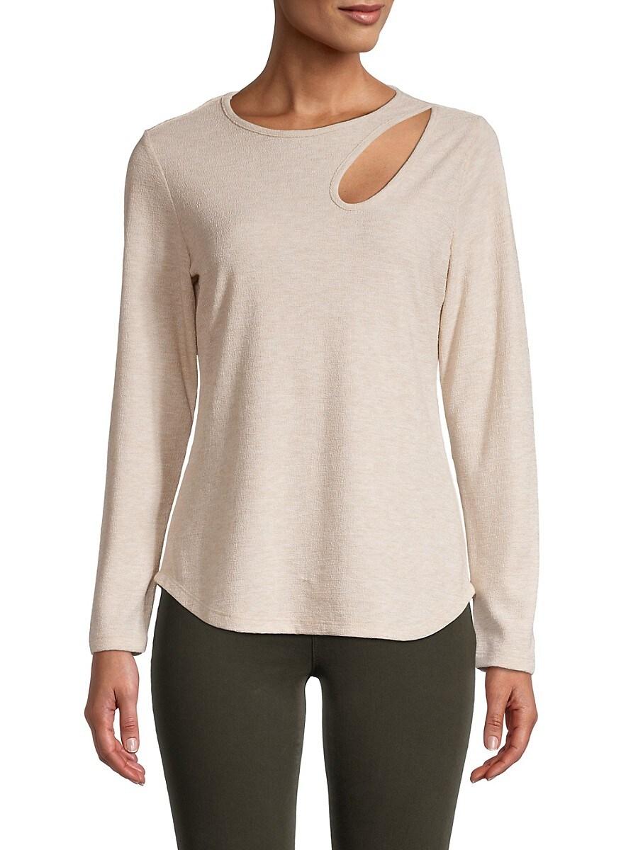 Women's Cutout Long-Sleeve Top