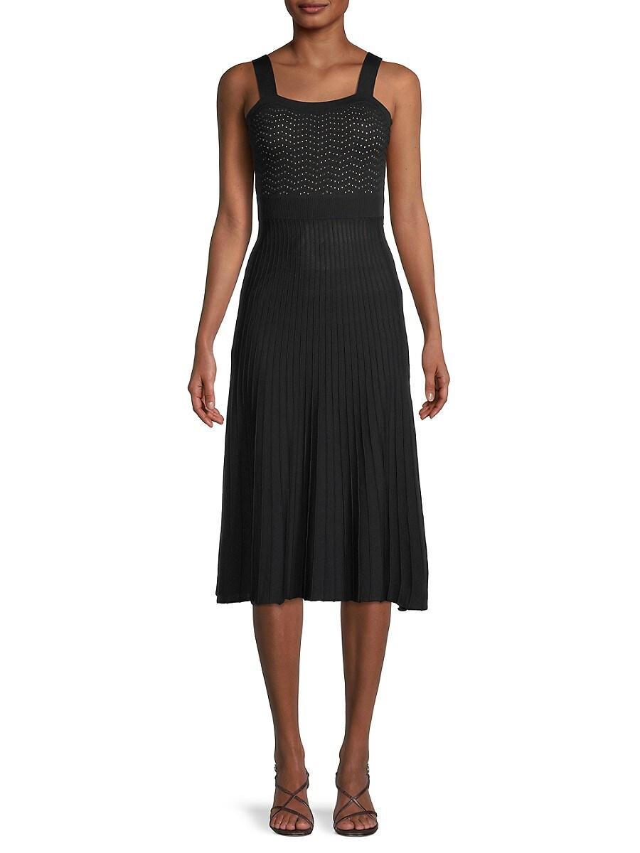 Women's Pleated Midi Dress