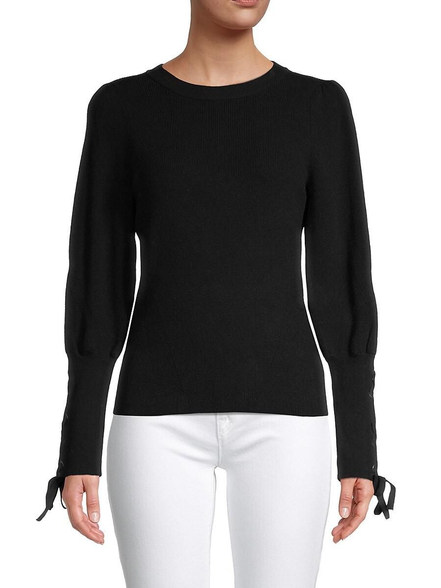 Women's Lace-Sleeve Knit Top