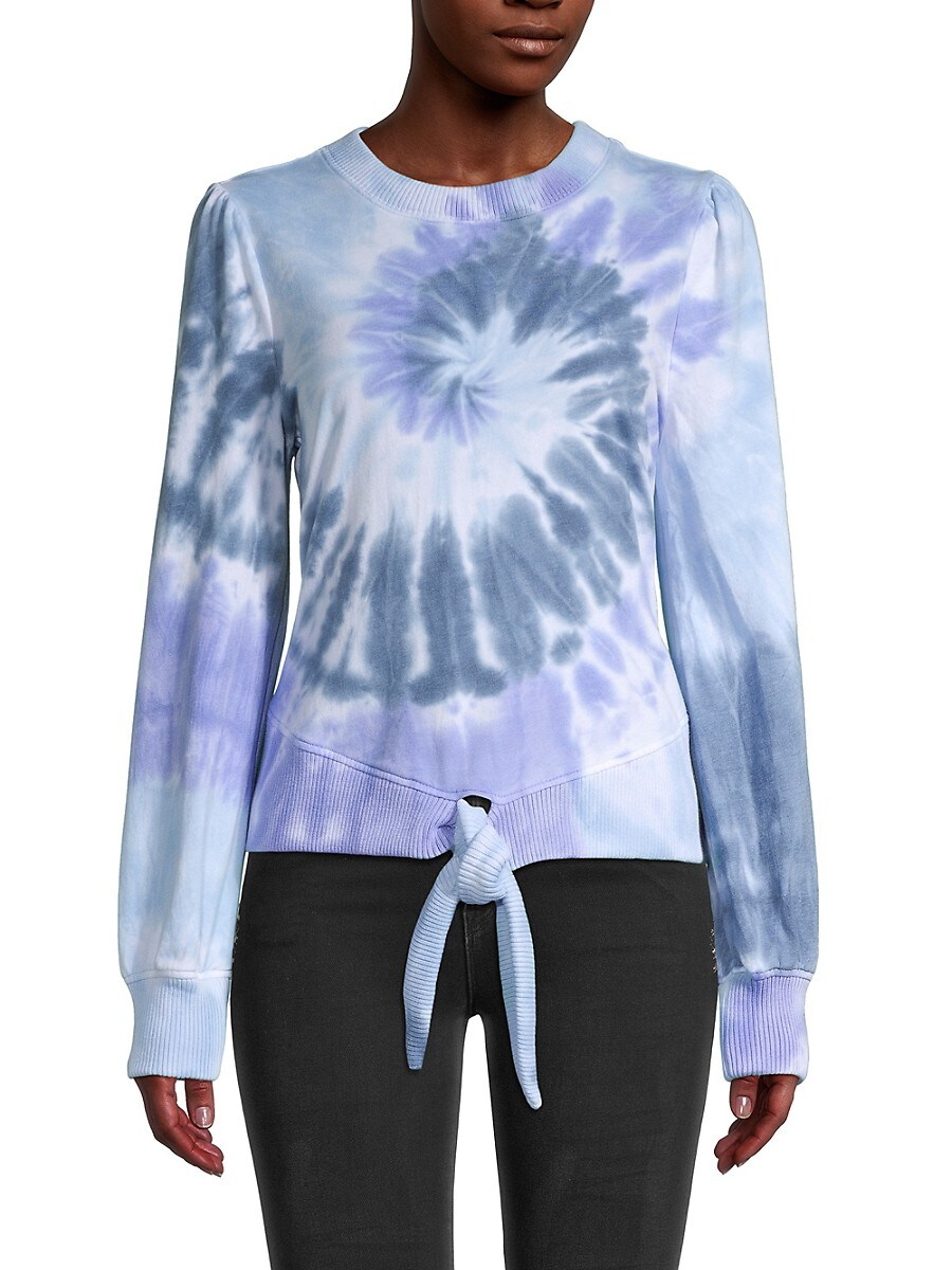 Women's Tie-Dyed Cotton-Blend Sweater
