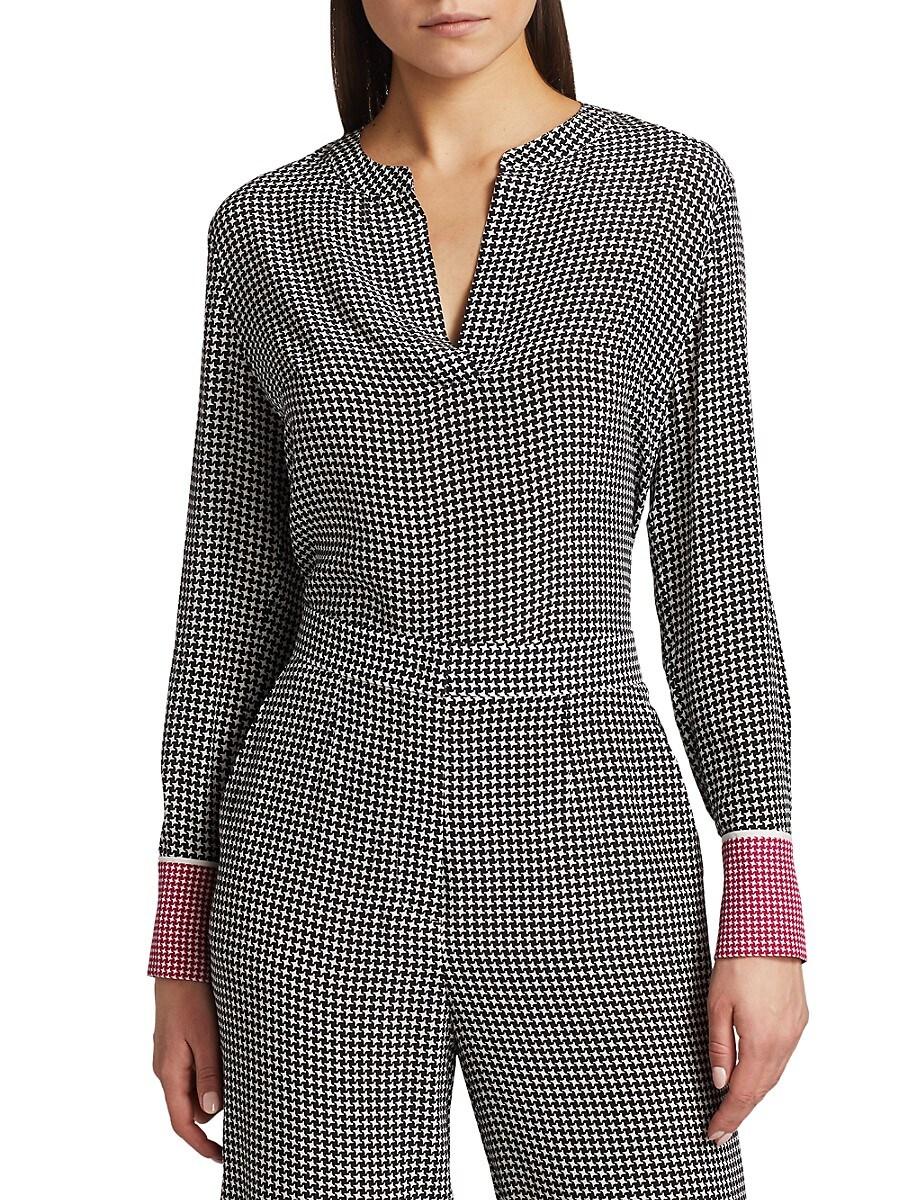 Women's Niassu Houndstooth Silk Tunic