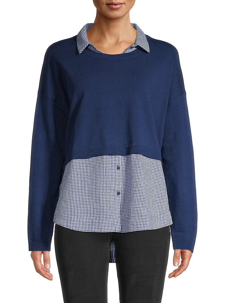 Women's Novelty Collared Top