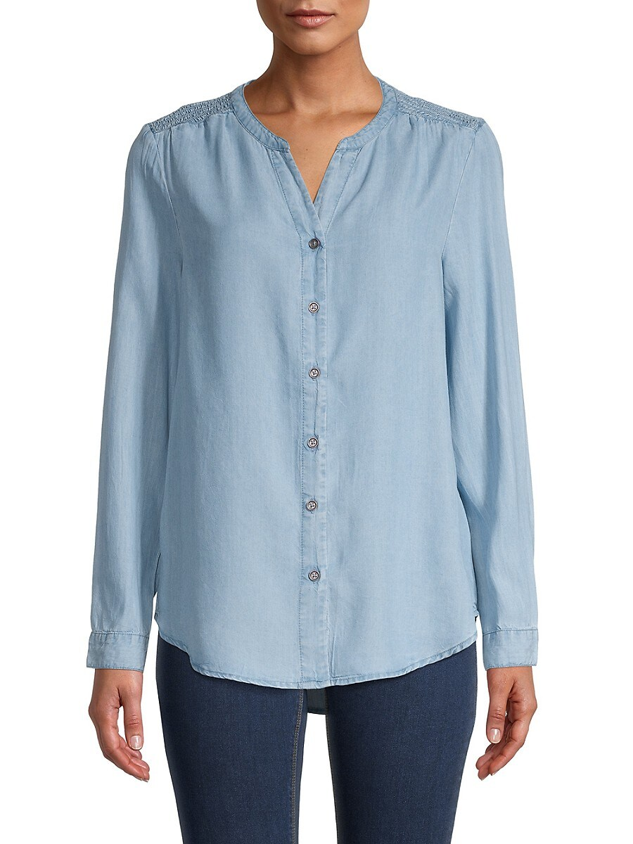 Beach Lunch Lounge Women's Smocked Button-Front Top