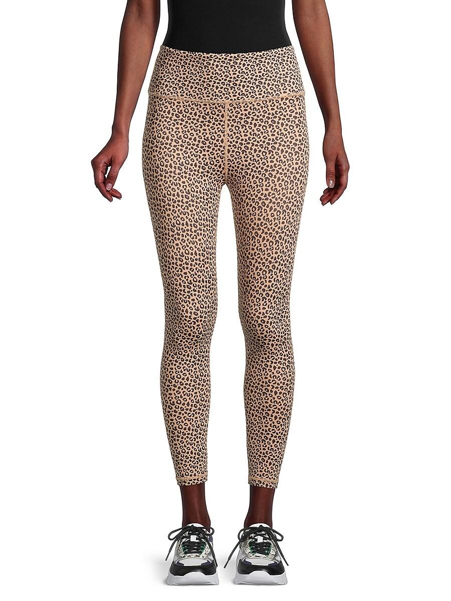 All Fenix Women's High-Waisted Leopard-Print Leggings - Sandy Leopard - Size L
