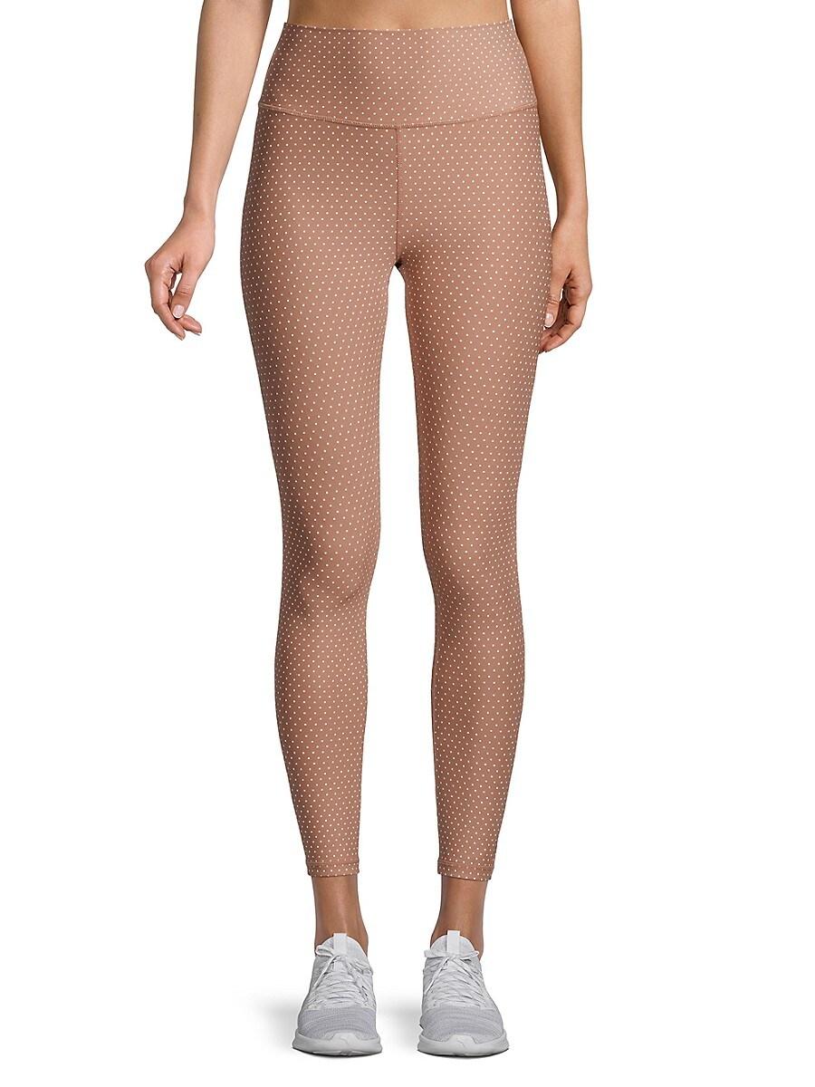 Women's Dot-Print Ankle-Length Leggings