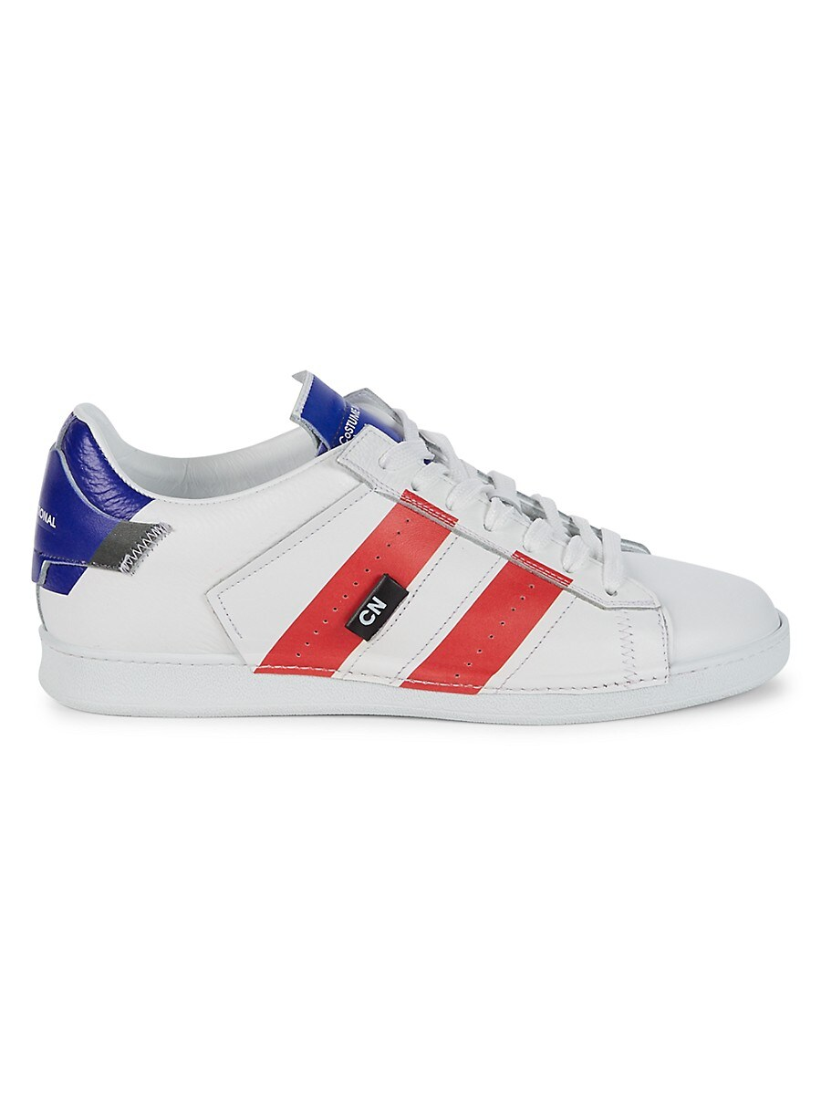 Men's Striped Leather Sneakers