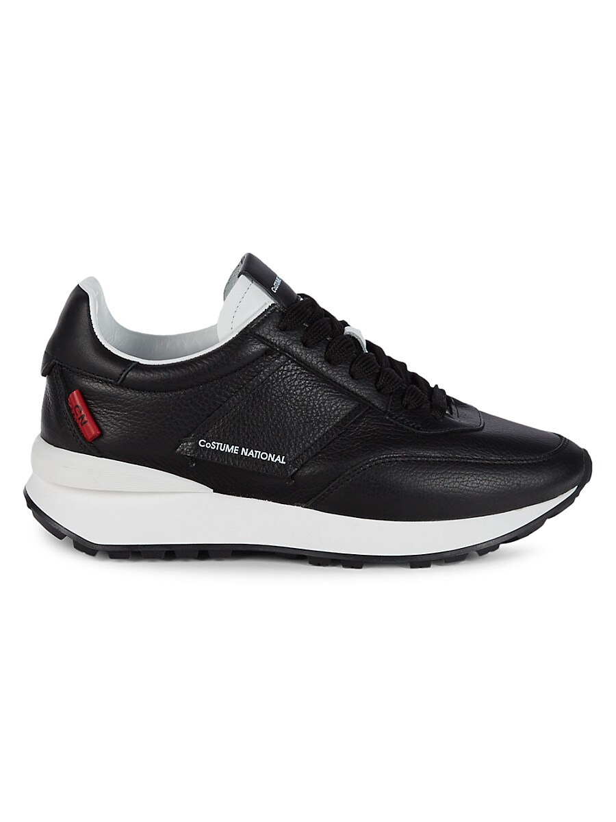 Men's Logo Leather Trainers
