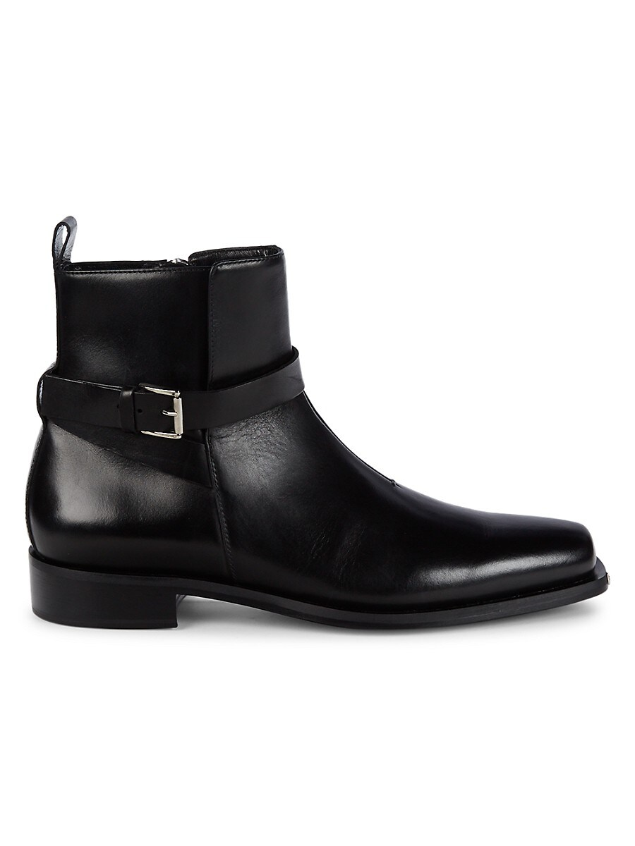 Men's Side-Buckle Leather Boots