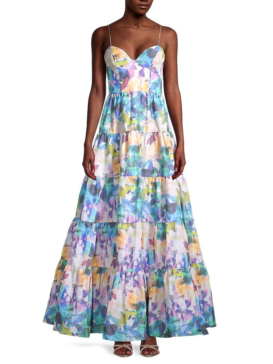 Flor et. al Women's Shalott Floral Tiered Gown
